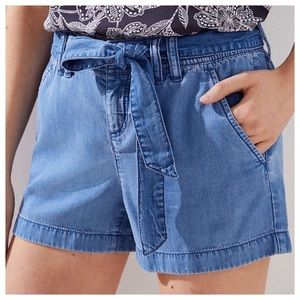 NWT LOFT Blue Chambray Shorts